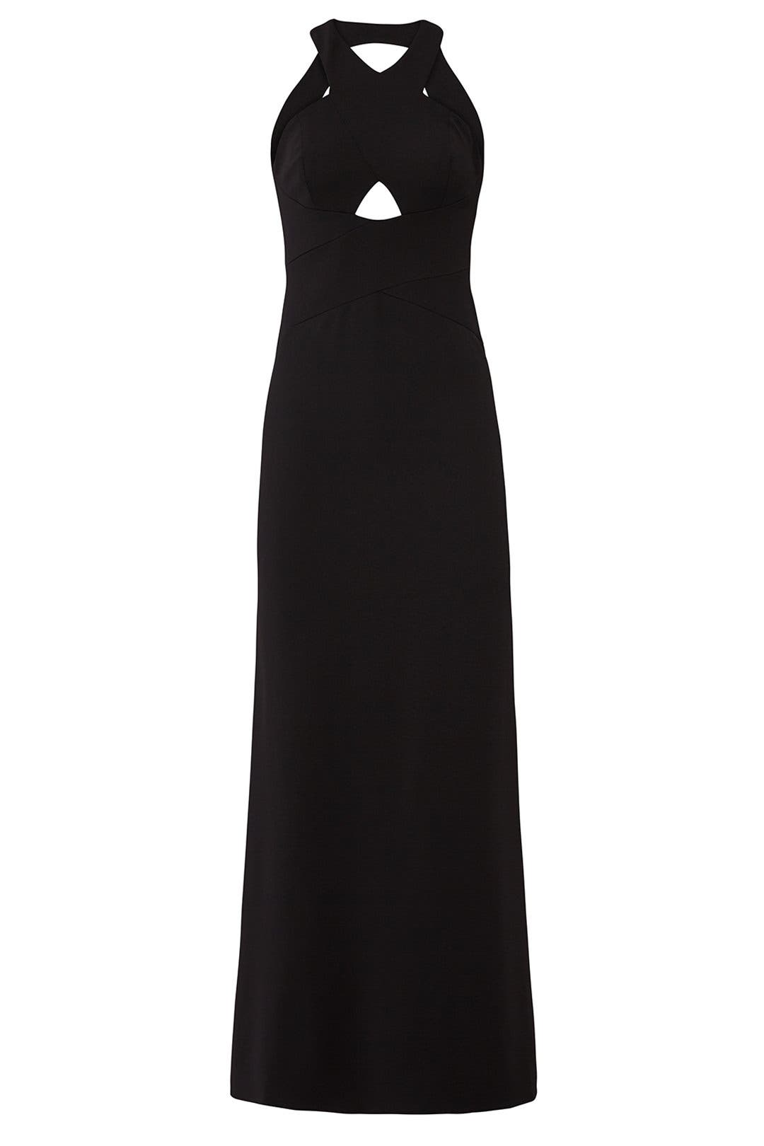 Cutout Halter Neck Gown by Aidan Mattox for $40 - $60 | Rent the Runway
