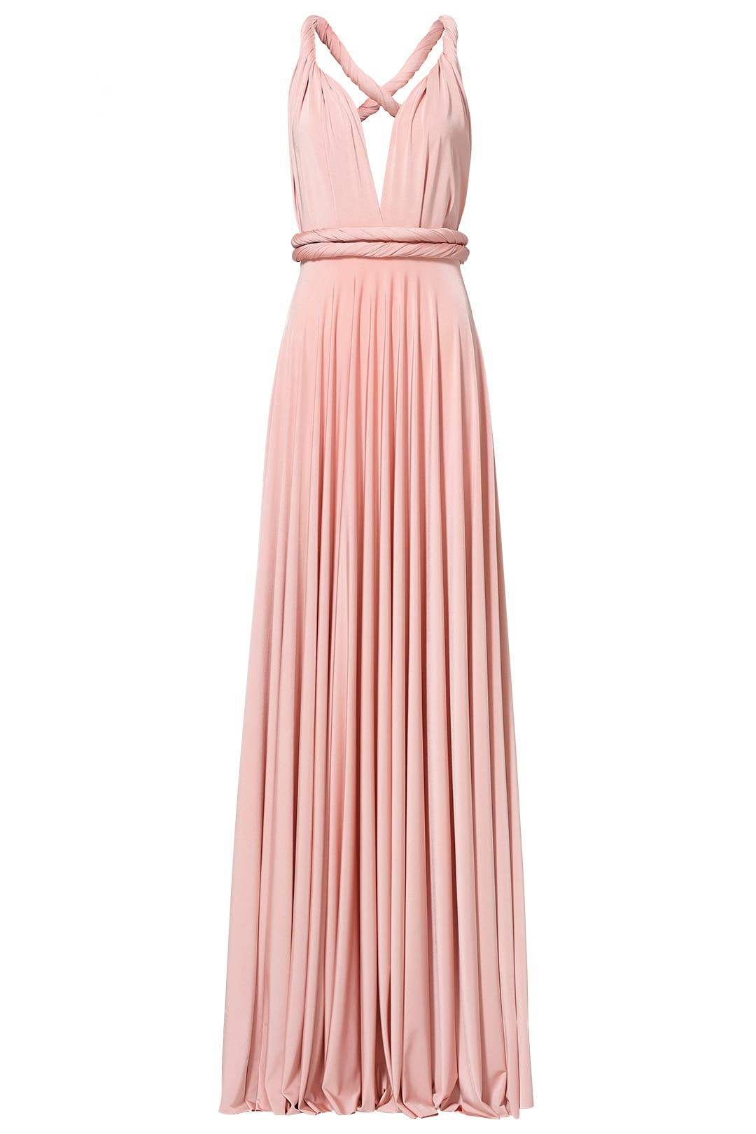 Blush Classic Convertible Gown by twobirds for $70 - $80 | Rent the ...