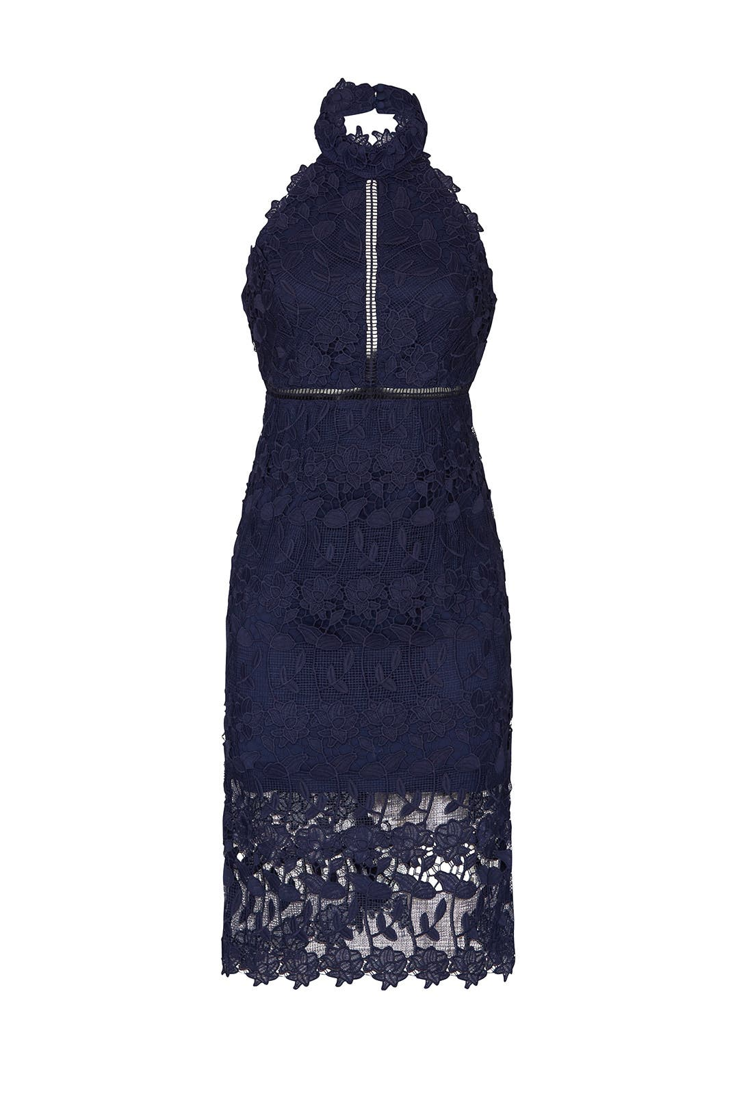 dec75b25 Navy Noni Halter Dress by BARDOT for $30 | Rent the Runway