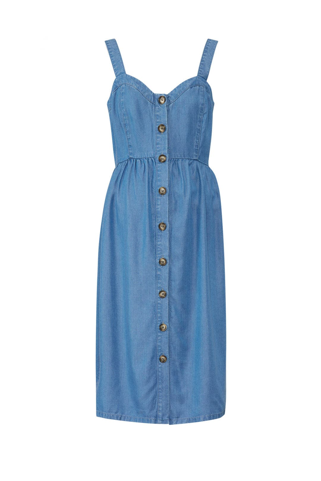 f068631c9393a Adelia Denim Maternity Dress by Seraphine for $30 | Rent the Runway