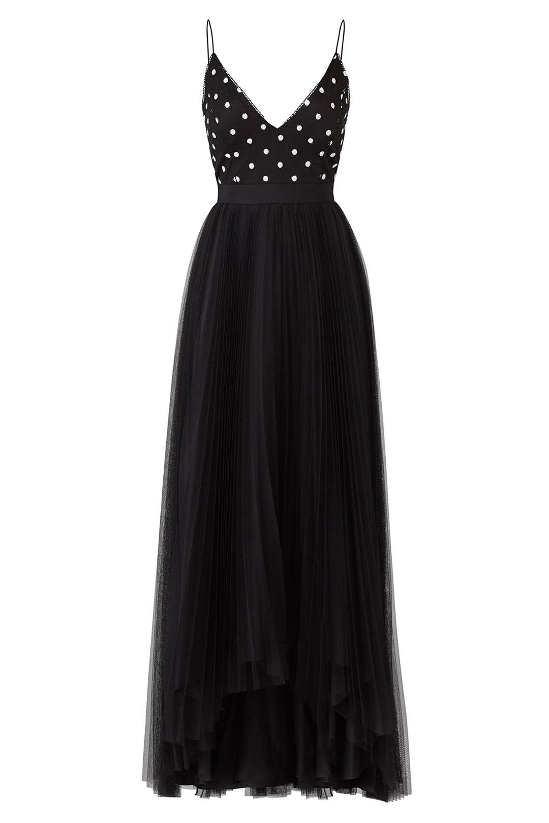 Polka Dot Bodice Gown by Adrianna Papell for $50 - $70 | Rent the Runway