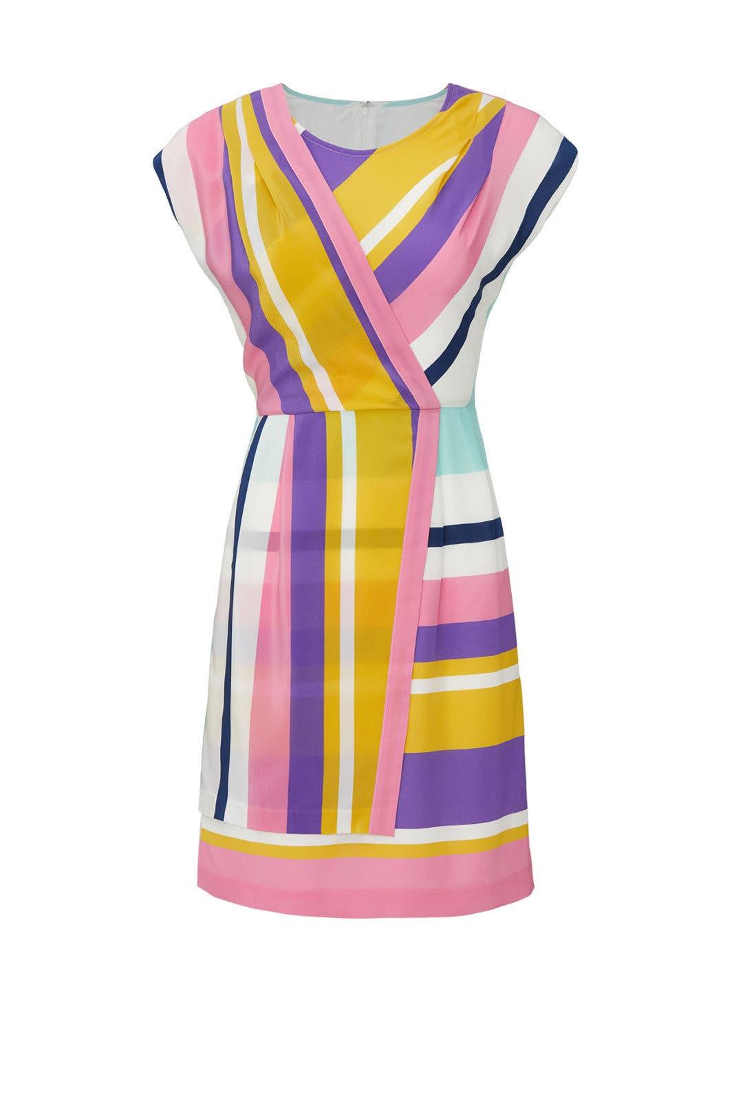 e9a1a031c26 Slate & Willow Combo Striped Faux Wrap Dress