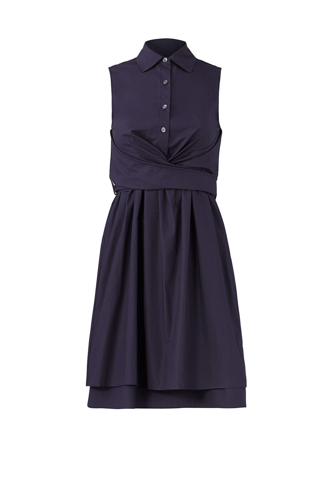 a99f95d2424a92 Navy Tie Ruffle Dress by Derek Lam 10 Crosby for  70