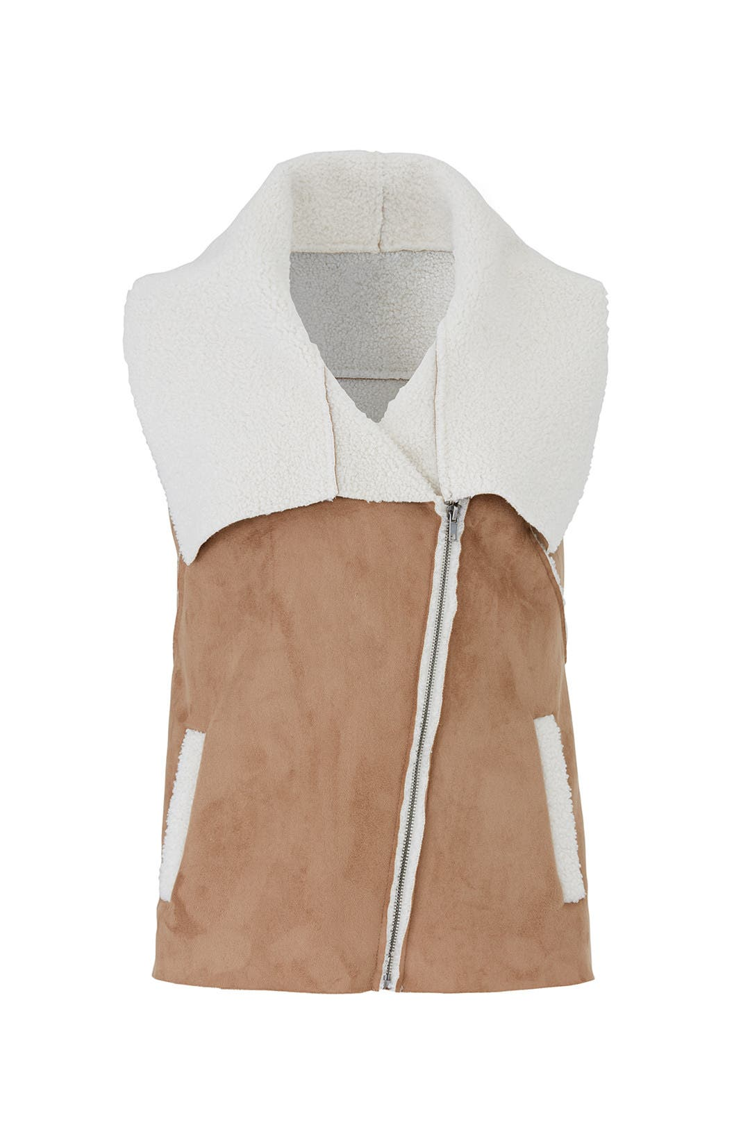 1a40929d8fcb Faux Shearling Fiona Vest by cupcakes and cashmere for  30