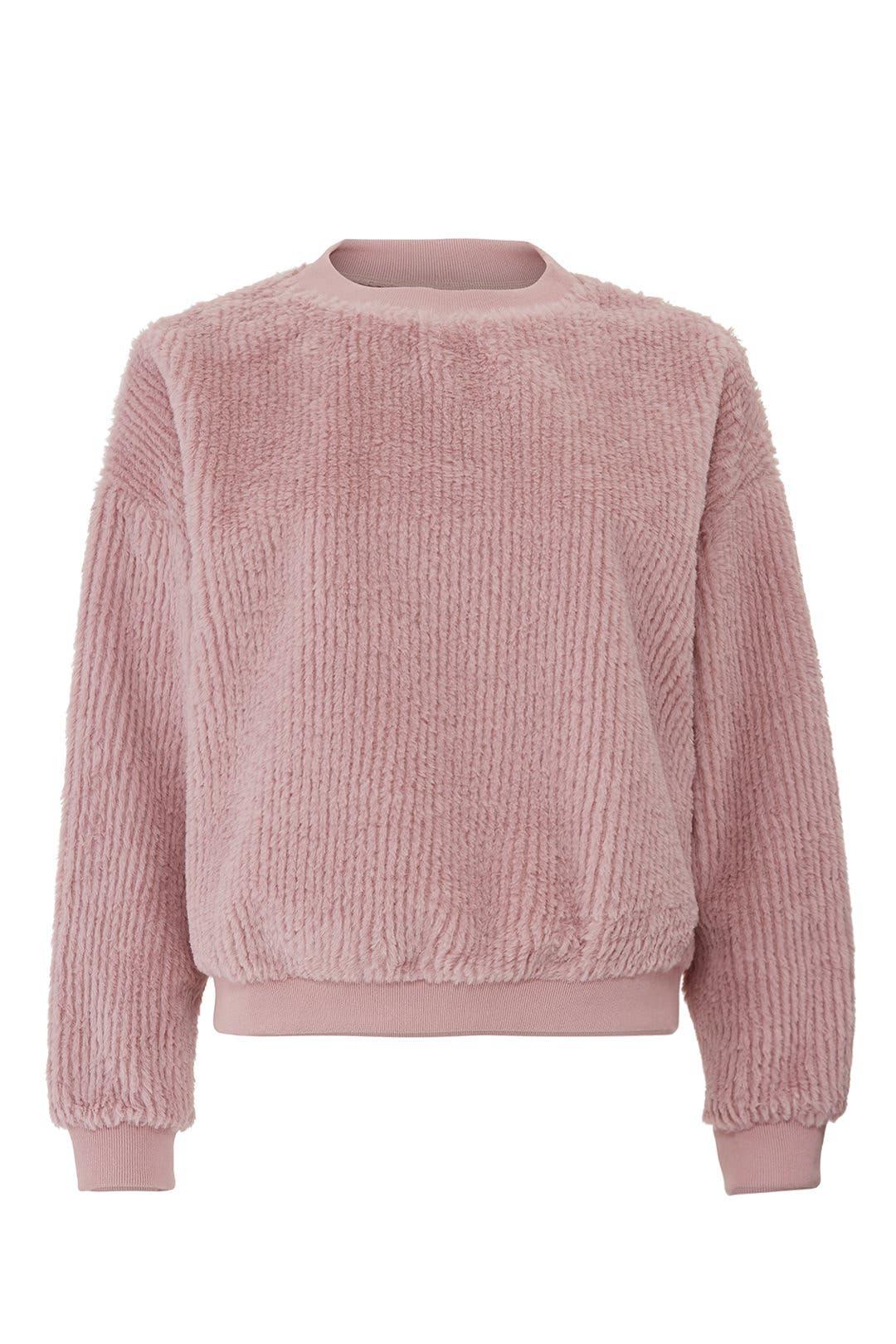 e8ee329ed04d Moon River. Read Reviews. Dusty Rose Faux Fur Sweatshirt