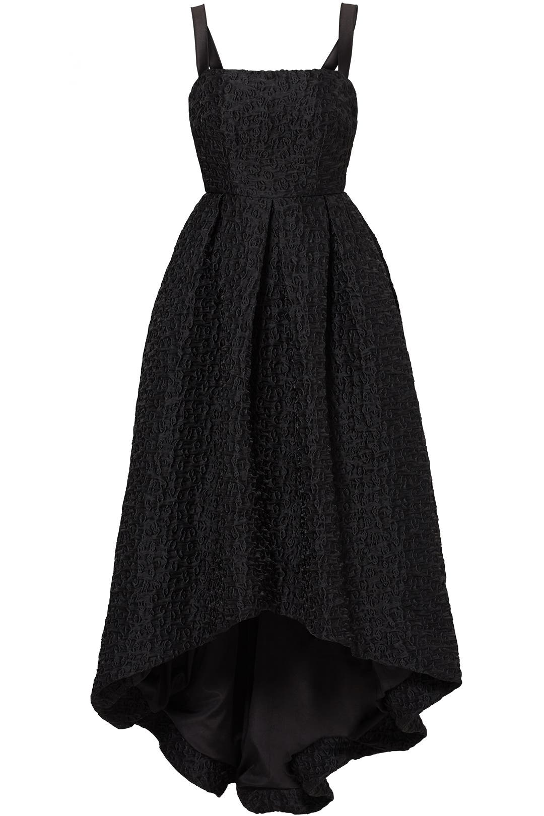 Black Crinkle High-Low Gown by Cynthia Rowley for $120 - $150 | Rent ...