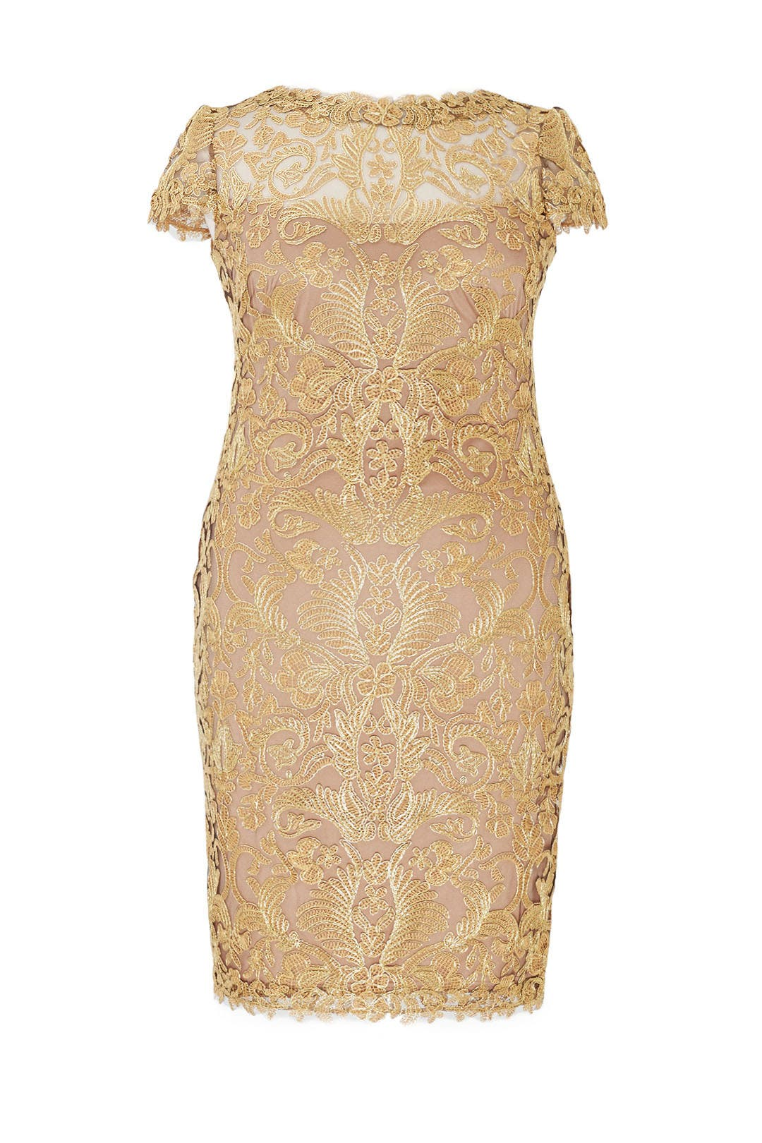 Gold Corded Embroidery Dress By Tadashi Shoji For 85 The Runway