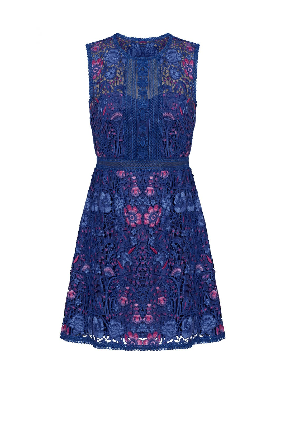 Royal Blue Floral Dress by Marchesa Notte for $100 - $135 | Rent ...
