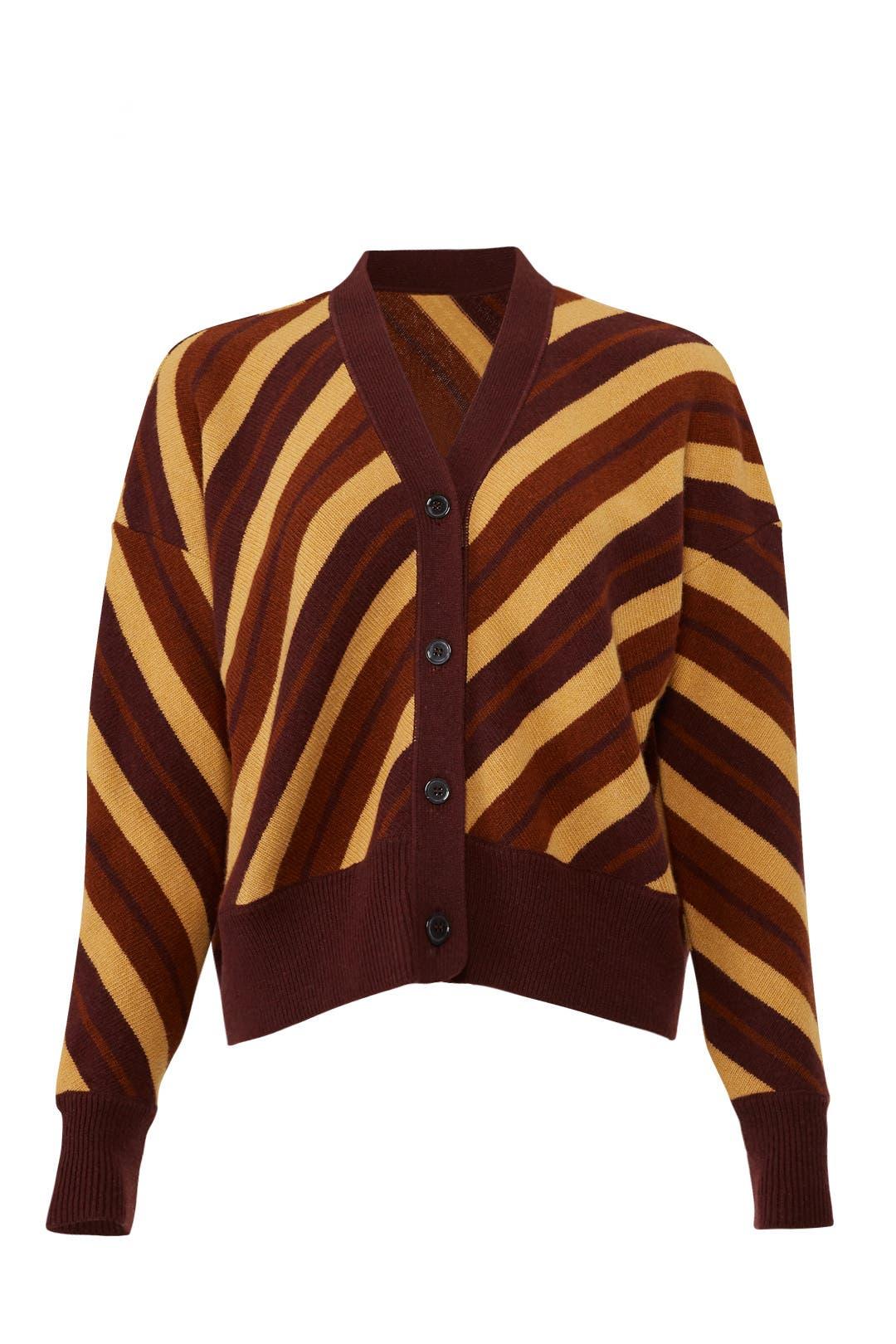 Marni Striped Long Sleeve Cardigan