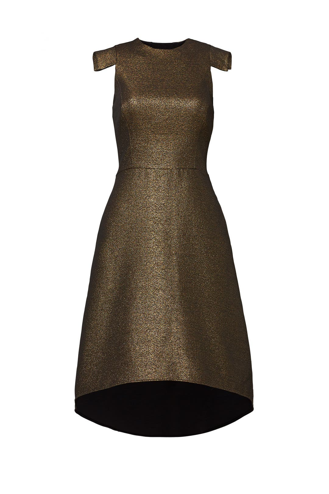 Antique Gold Jacquard Dress by Halston Heritage for $59   Rent the ...
