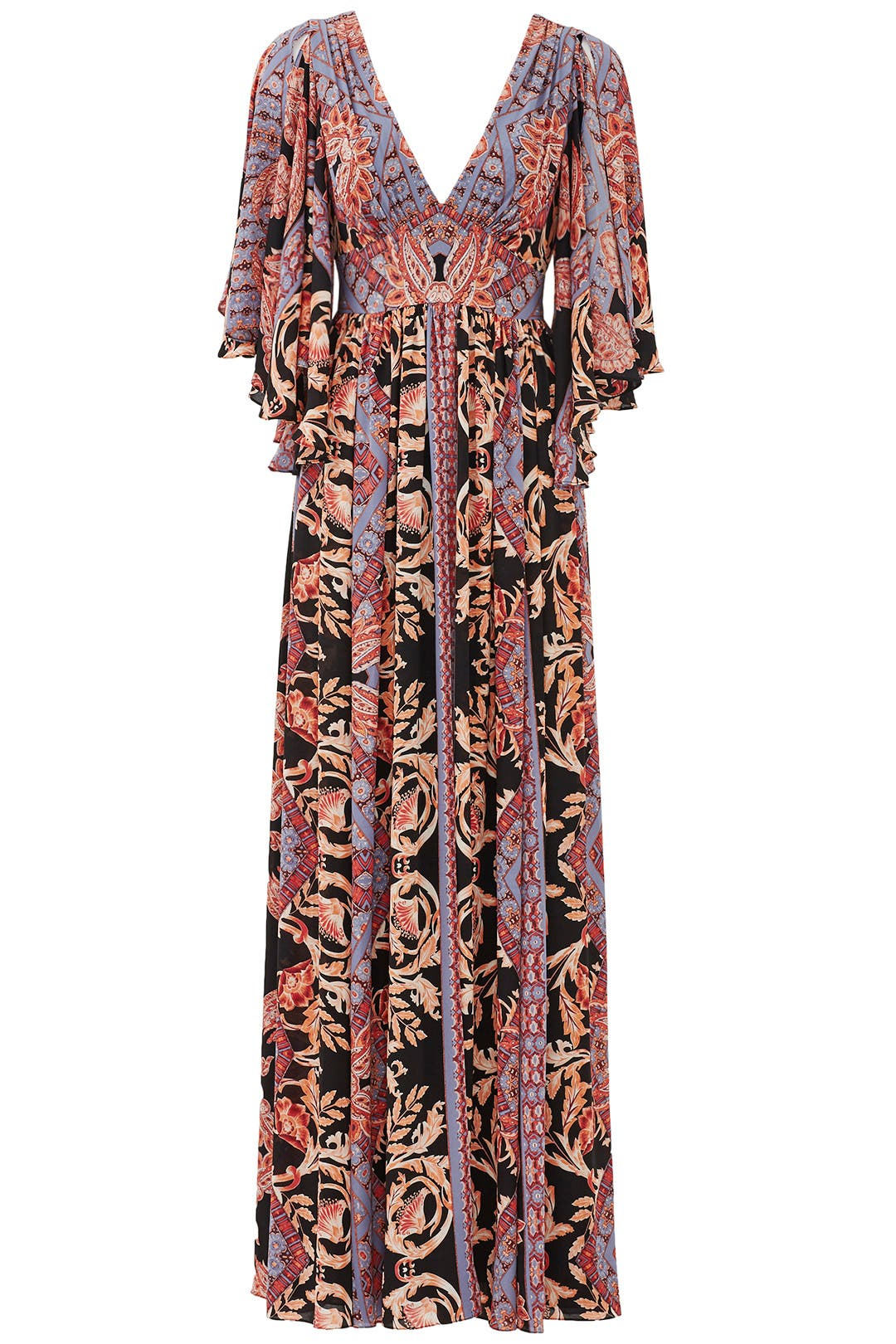 printed fern maxi party dress by free people for 77 rent the runway - Free Printed Pictures