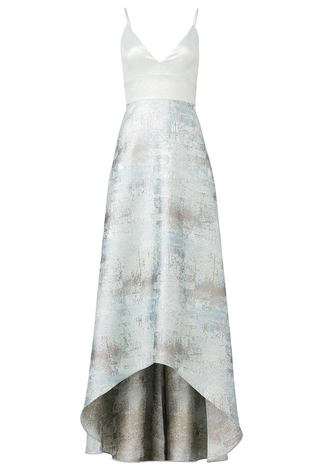 Metallic Blue Gown by Badgley Mischka for $100 - $120 | Rent the Runway