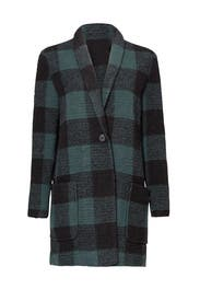 Green Buffalo Plaid Coat by BB Dakota