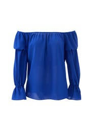 Blue Peasant Blouse by Nicole Miller