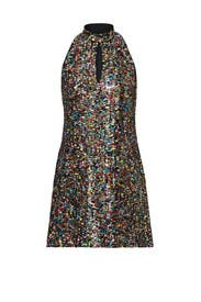 Rainbow Sequin Mod Shift Dress by Cynthia Rowley