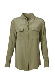 Green Signature Button Down by Equipment