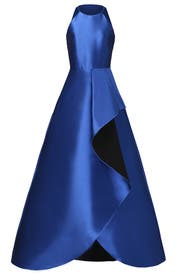 Royal Blue Reverse Ruffle Gown by Badgley Mischka