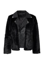 Black Faux Fur Leather Jacket by Endless Rose for $30 | Rent the ...