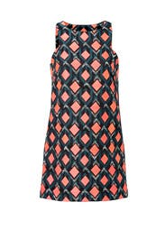 Diamond Printed Dress by Milly