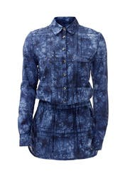 Country Denim Print Romper by Thakoon