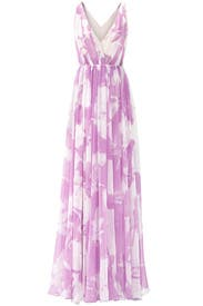 Lilac Disco Maxi Dress by Halston Heritage