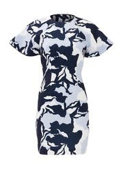 Navy Camouflage Wasting Time Dress by Keepsake