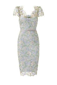 Ice Bell Bloom Sheath by Marchesa Notte