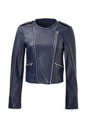 Indigo Leather Jacket by Rebecca Minkoff