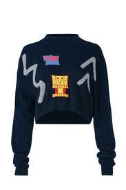Abstract Crop Sweater by Peter Pilotto