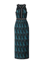 Mariner Blue Pleated Dress by Yigal Azrouël for $175 - $195 | Rent ...