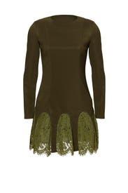 Army Green Desert Paradise Dress by Asilio