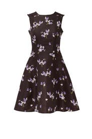 Black Wild Flower Dress by RED Valentino