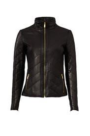 Eloise Leather Jacket by Badgley Mischka