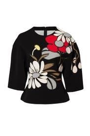 Black Floral Printed Top by Marni