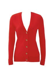 Red Simone Cardigan by Tory Burch