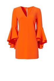 Orange Italian Nicole Dress by Milly