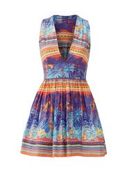 Under the Purple Palm Dress by MSGM