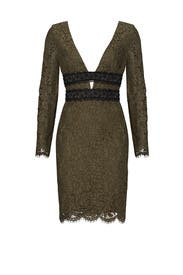 Green Lace Cutout Dress by Diane von Furstenberg