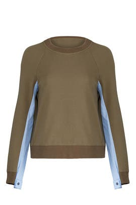 Combo Army Green Sweater by Derek Lam 10 Crosby