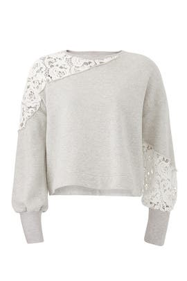 Lace Detail Sweatshirt by KINLY
