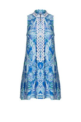 Blue Printed Lace Shift by Lilly Pulitzer