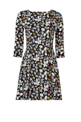 Crisp Floral Print Dress by Suno