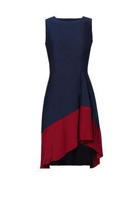 Burgundy Colorblock Hem Dress by Slate & Willow