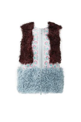Bordeaux Fur Vest by Giamba