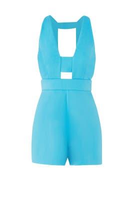 Turquoise Jenna Romper by Jay Godfrey