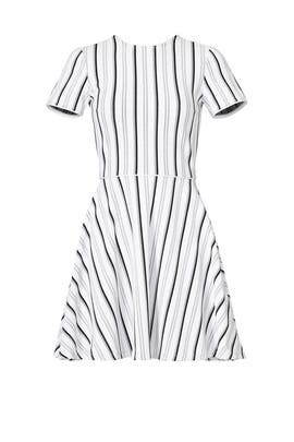White Striped Clos Dress by Opening Ceremony