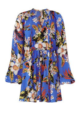 Floral Cinch Sleeve Dress by Diane von Furstenberg