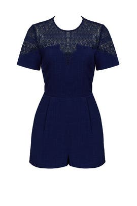 Navy Lace Marissa Romper by Adelyn Rae
