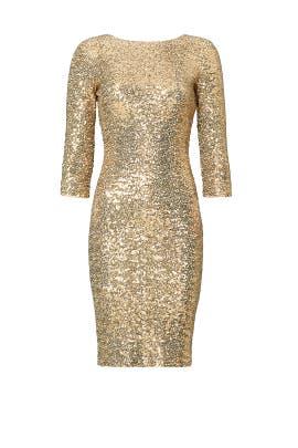 Gold Sequin Sheath by Badgley Mischka