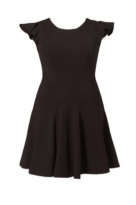 Black Ruffle Shoulder Dress by ELOQUII